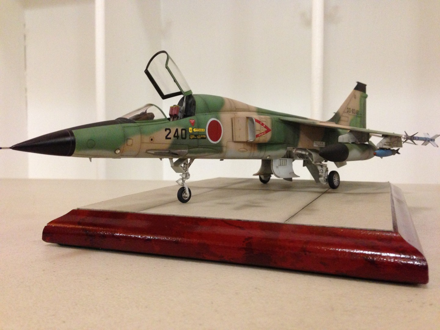 I believe this is a Mitsubishi jet flown by the JSDF. Expertly modeled by Kevin.