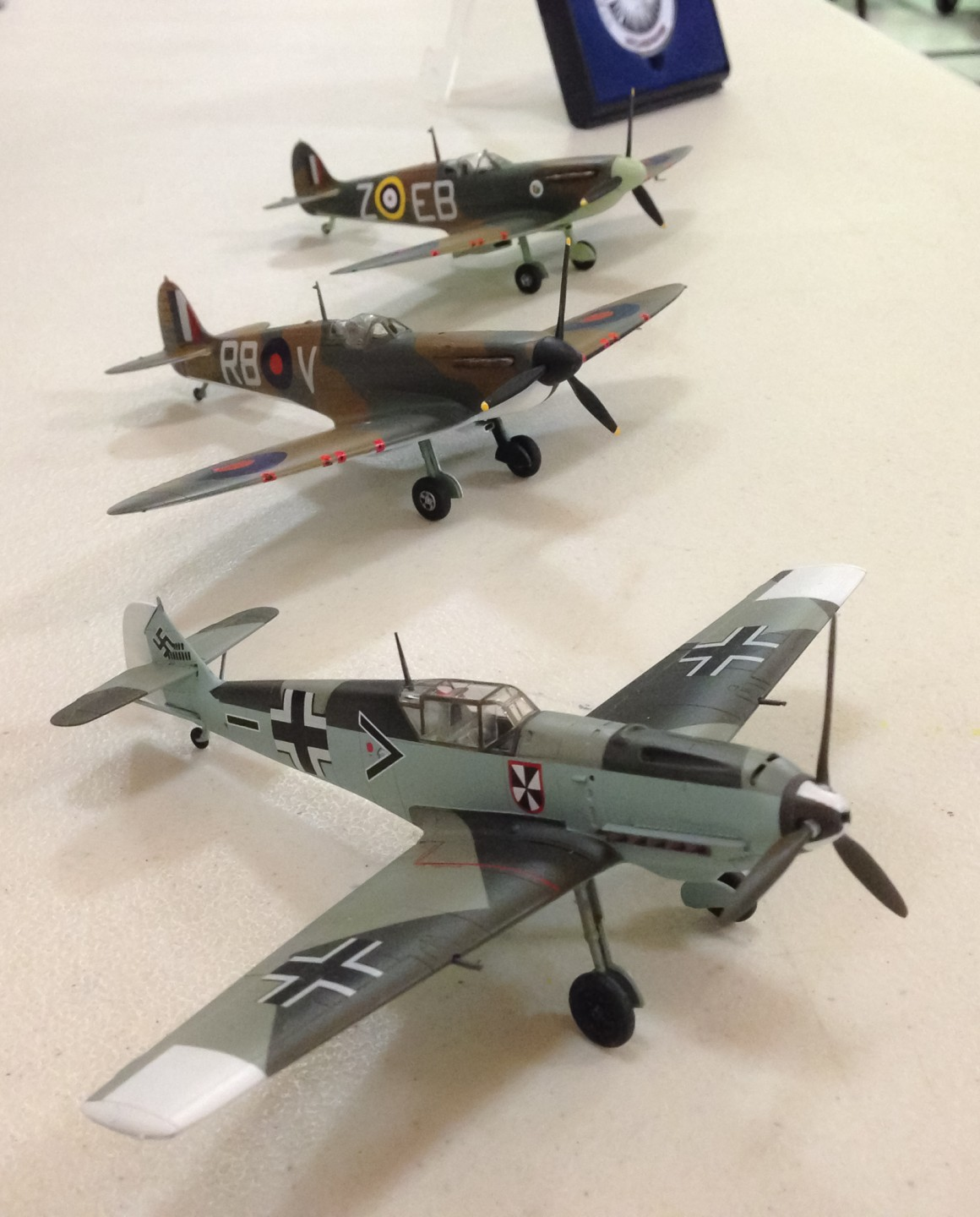 Bill Brickhouse brought three of his latest WWII single prop planes for the show-and-tell portion of the November meeting.