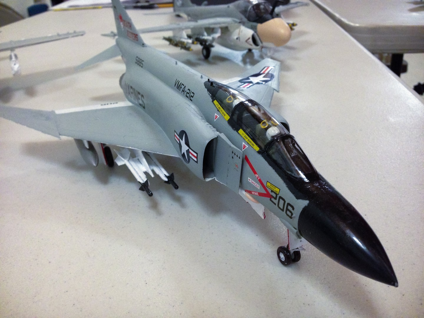 Brian Nerino's F-4 Phantom on the show and tell table at the January 2013 meeting.