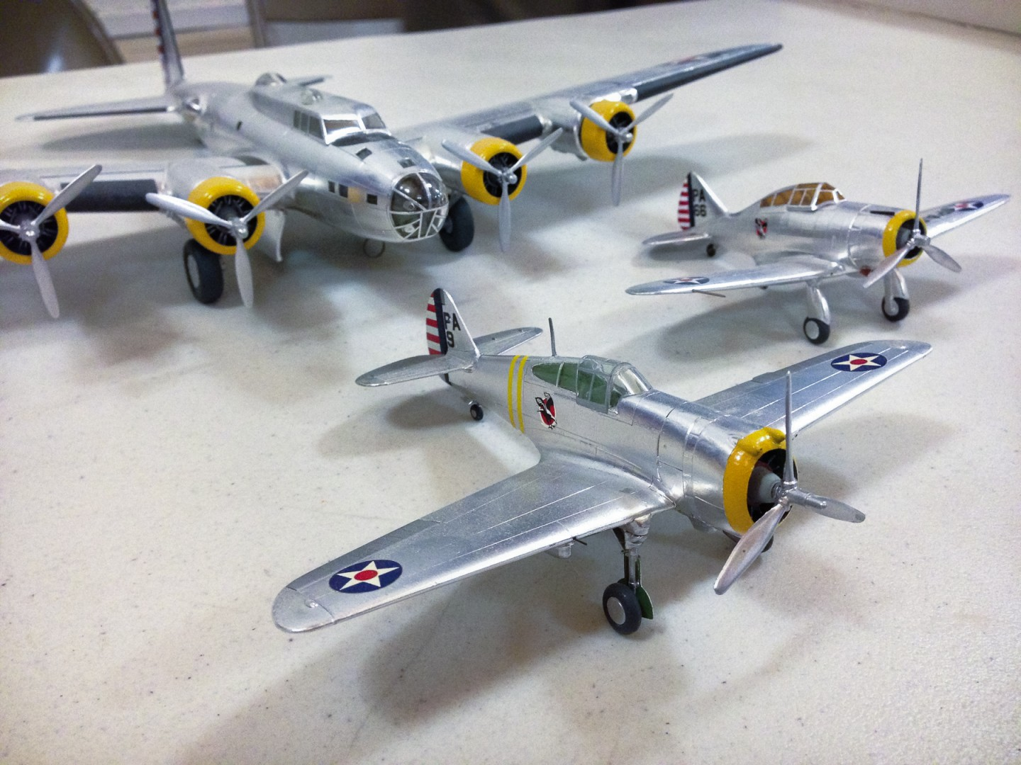 Jim Hassler brought this trio of bare metal beauties to the January 2013 meeting. All were covered with Baremetal Foil.