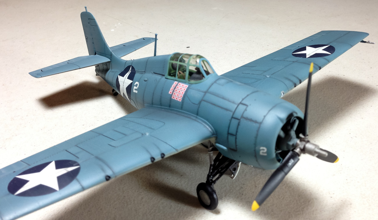 Mike Schine's now finished 1:72 Wildcat.