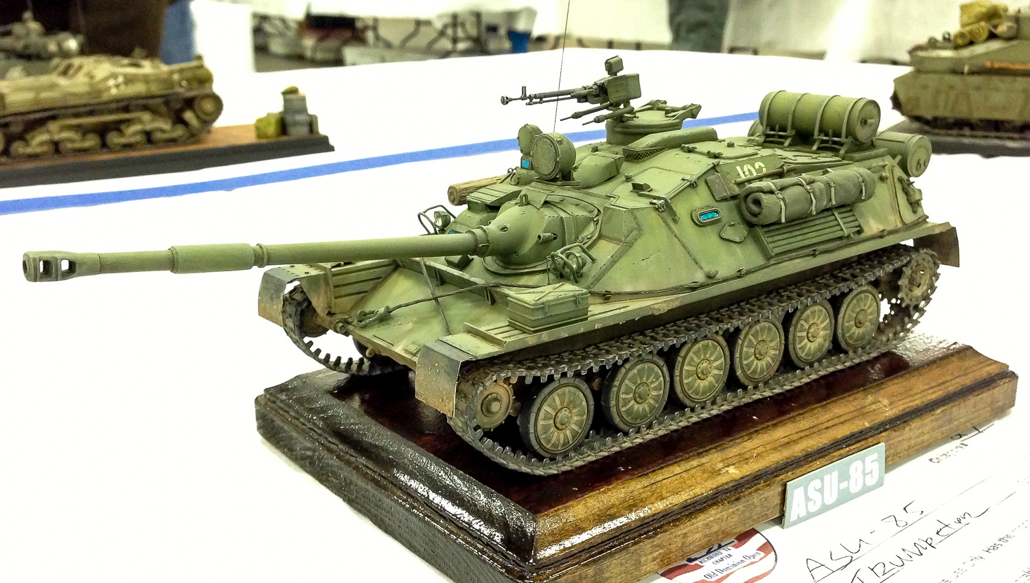 Mike Witkowski's Soviet airborne tank won a second place in its category at the ODO Saturday.