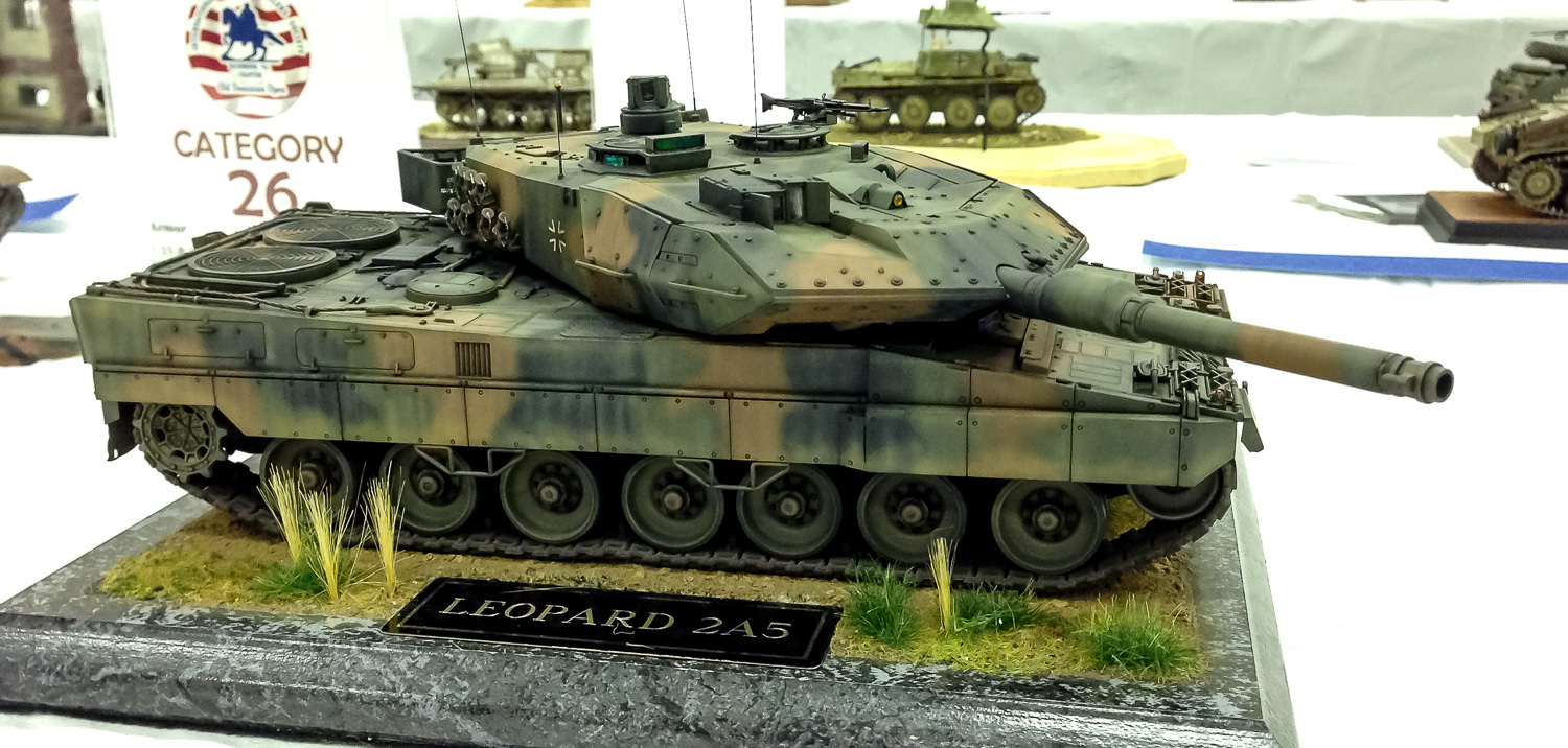 Kevin Farris' Leopard 2A5 won a first in its category at the ODO Saturday.