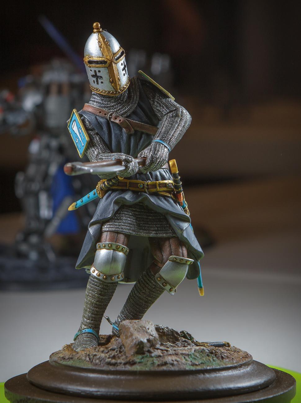 Gordon Geiger's chain-mailed knight.