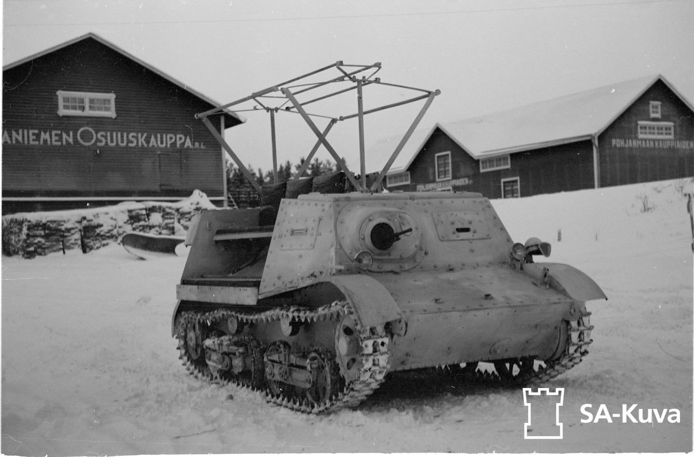 Kunnostettu, vallattu tankki.