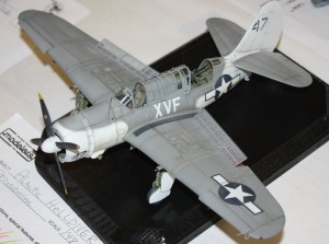 1:48 SBC Helldiver from the Accurate Miniatures kit in Atlantic Patrol scheme