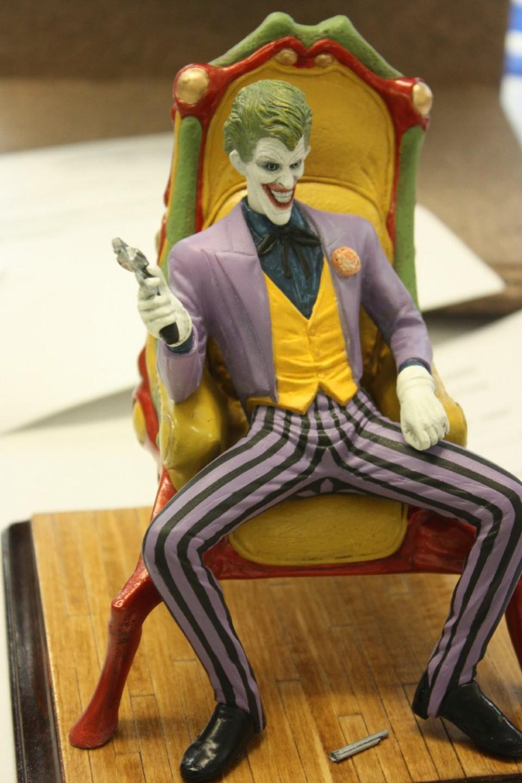 A creepy joker figure