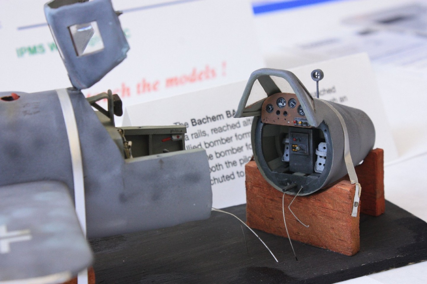 Just like the real thing, cockpit breaks apart for a quick exit