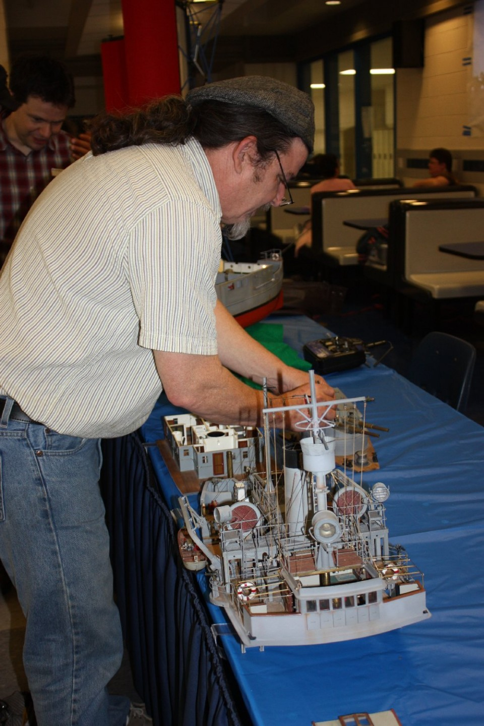 This modeler scratchbuilt a Civil War 'What If' in his 1930's Confederate gunboat model, with complete interior detailing.