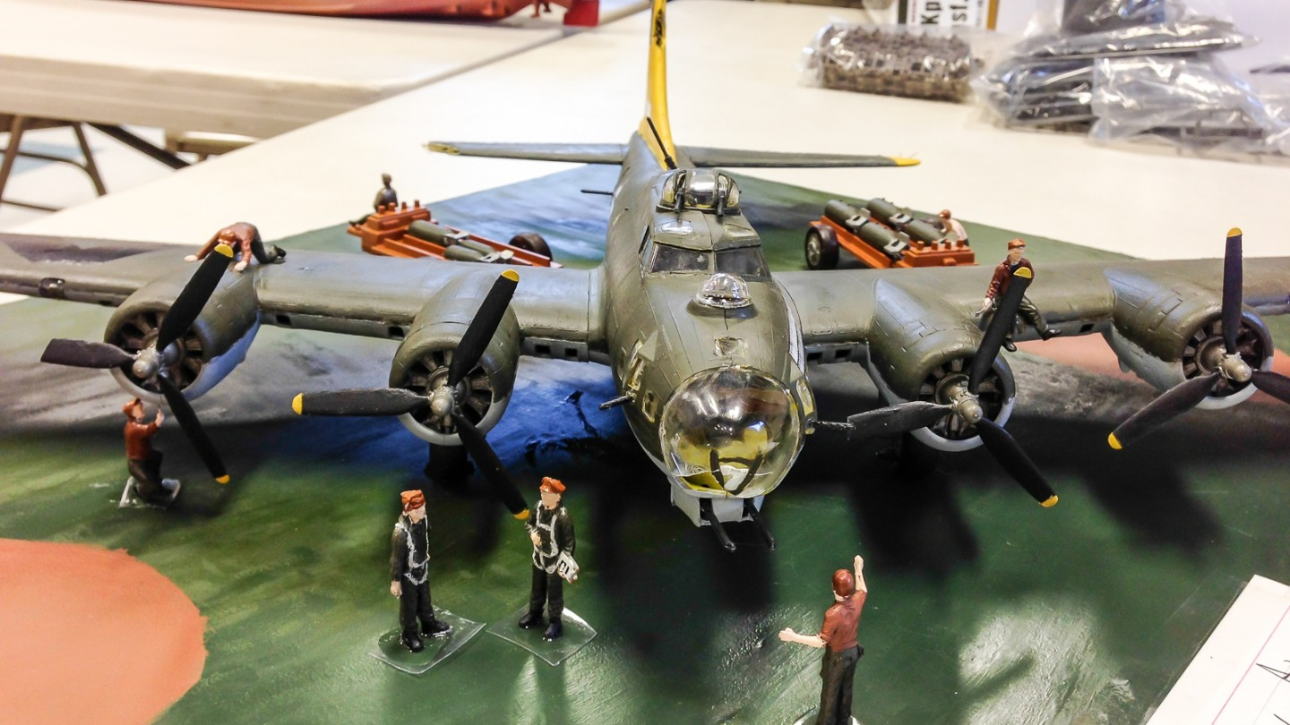 Brian's 1:48 B-17 was the main attraction of his airbase diorama.