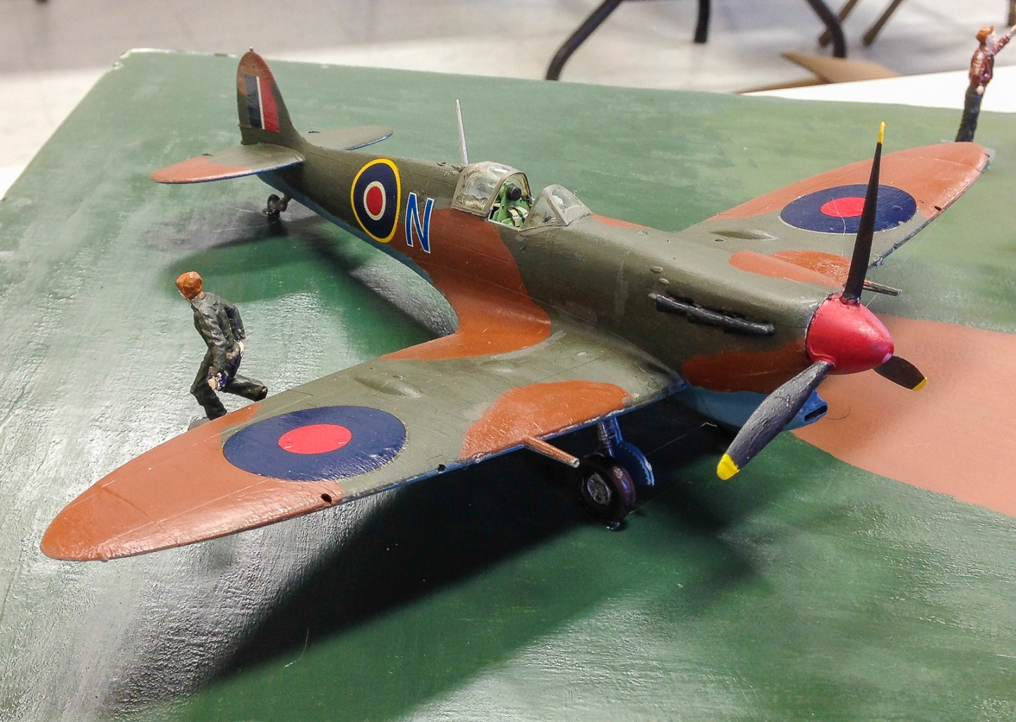 This British fighter joined the B-17 on Brian's WWII diorama display.
