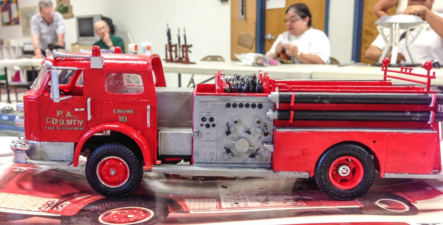 Brian showed off his build of this very large fire truck model.