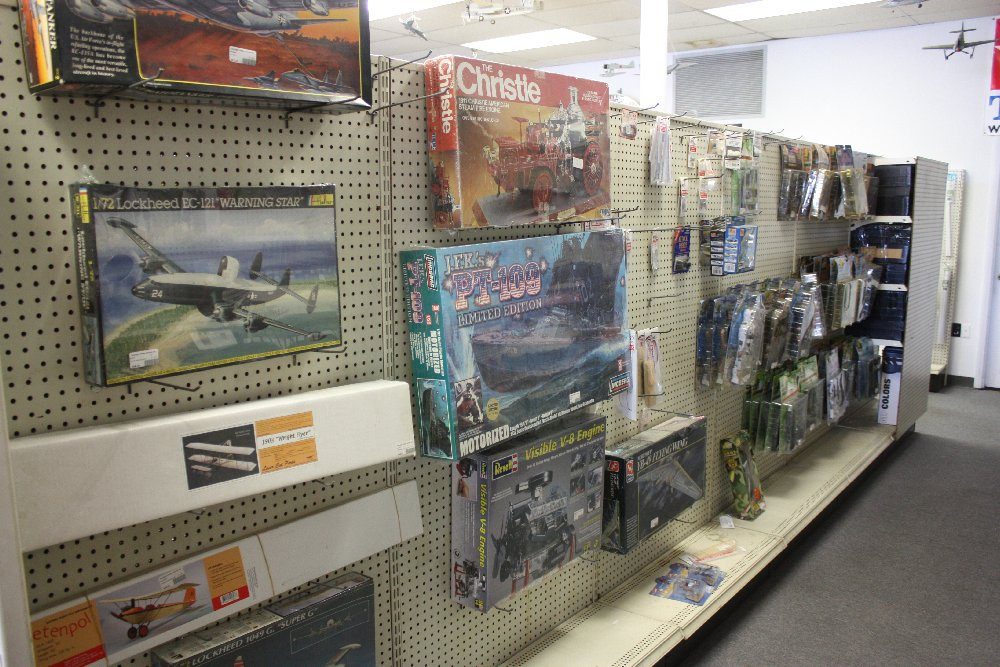 Aisle of wood & vintage kits