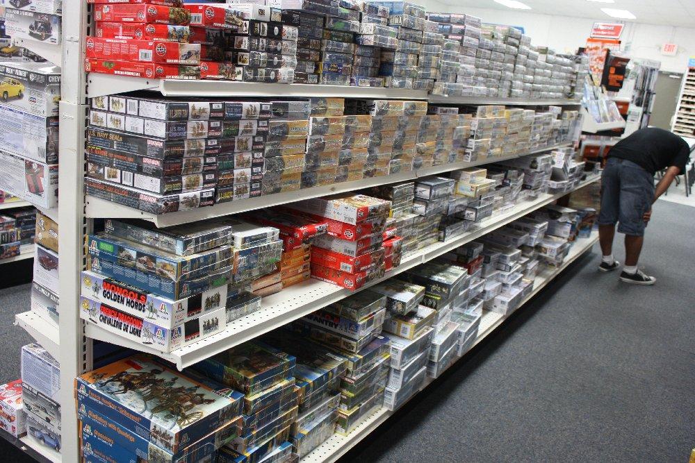 Armor model kits aisle