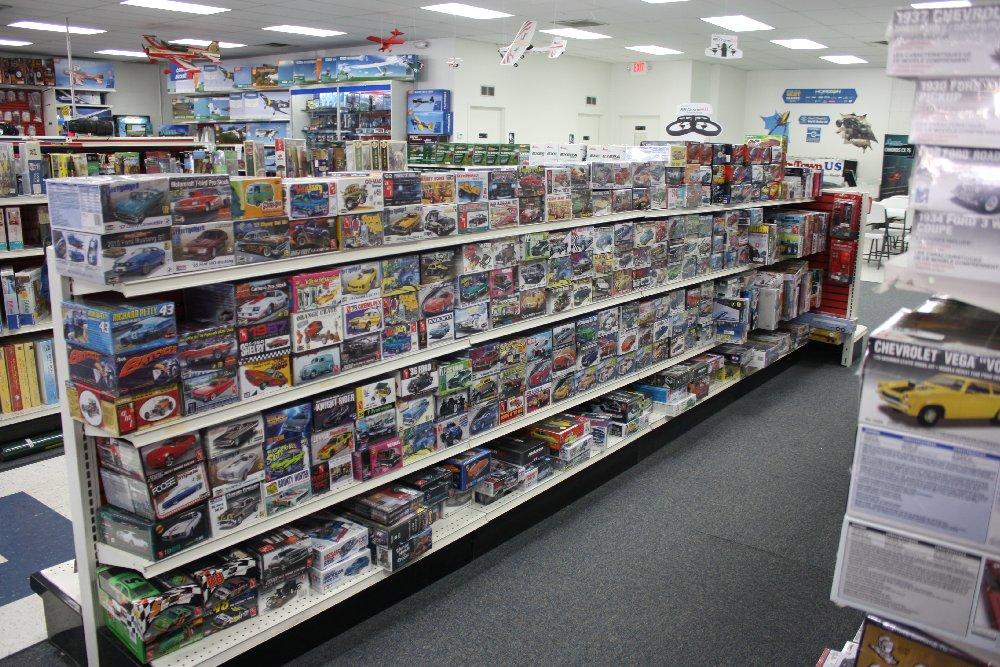 Left side of model cars aisle