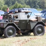 Dingo scout car in action