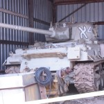 M50 'Super Sherman' sleeping in the barn.